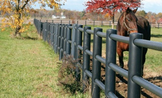 Round Rail 3 Rail Farm Fence